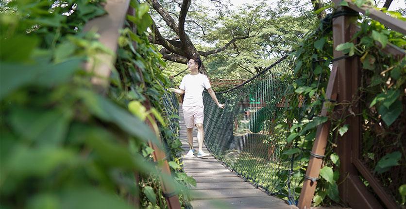 Man strolling