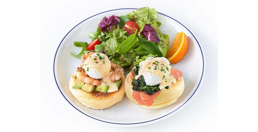 FLIPPER'S Singapore - Eggs Benedict Souffle Pancake
