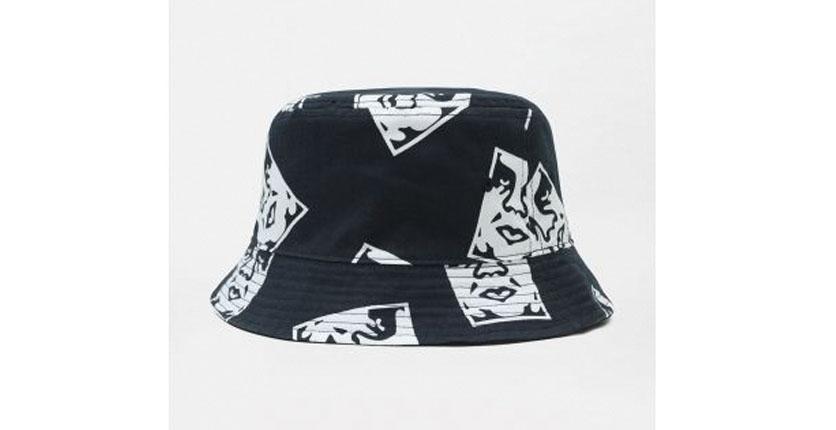 Dickies x Obey Reversible Flat Top Bucket Hat In Navy