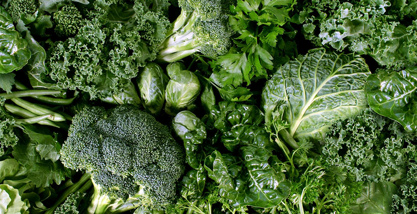 Vitamin B9 dark leafy greens