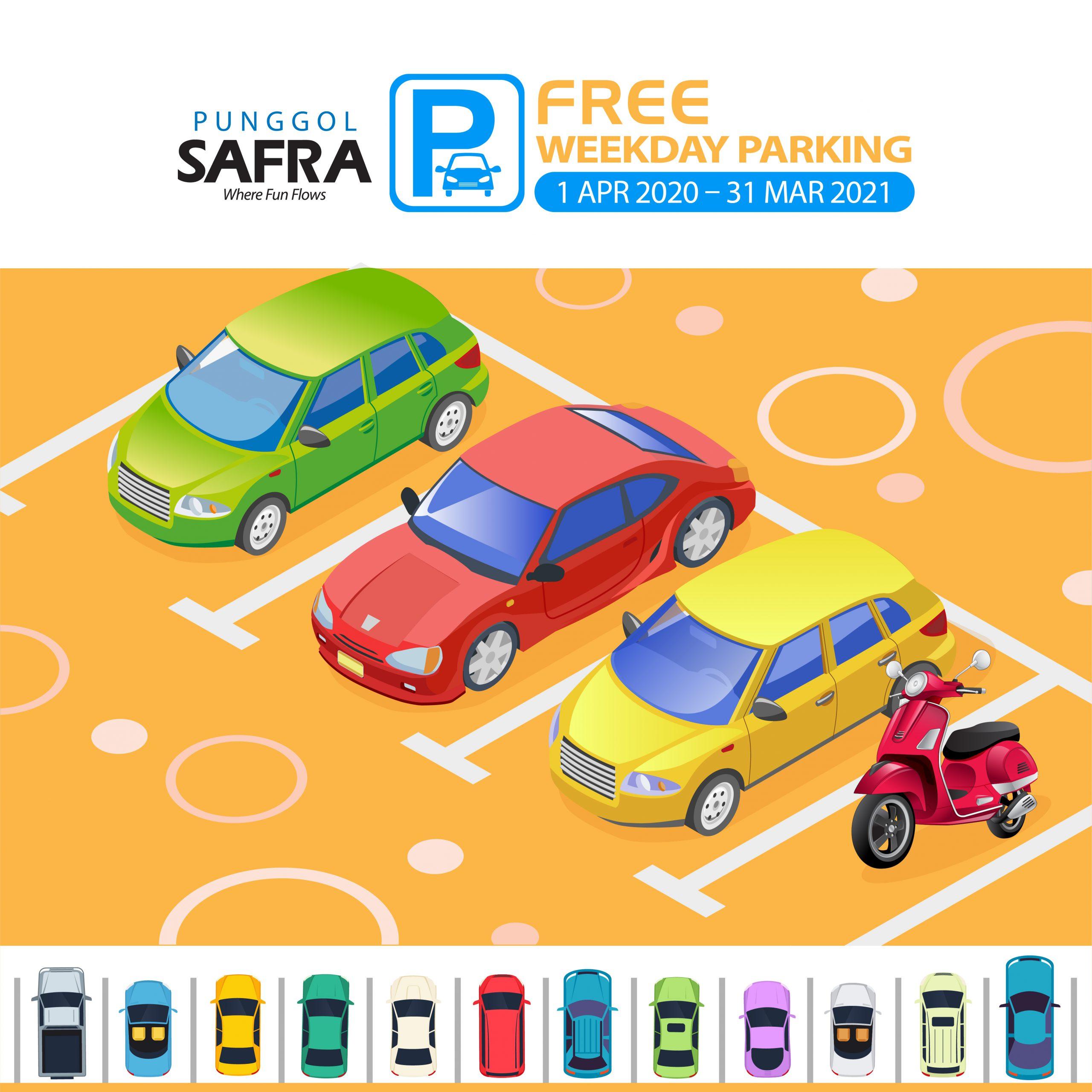 Free Weekday Parking at SAFRA Punggol
