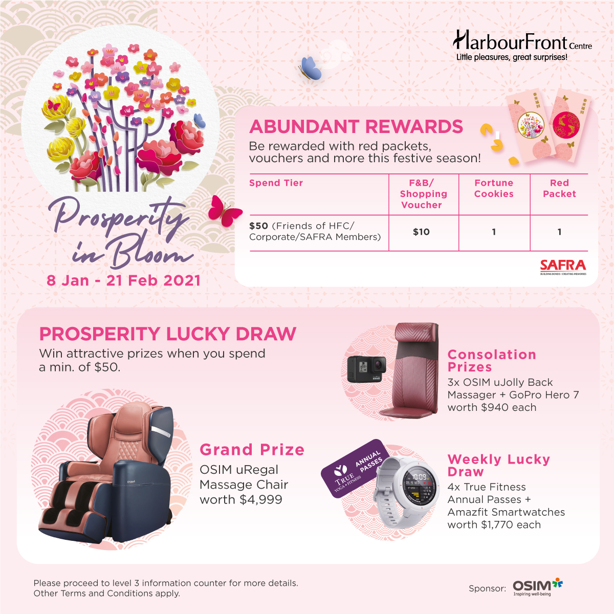 HARBOURFRONT CENTRE - Redeem 1 Red Packet Set, 1 Fortune Cookie, a $10 Shopping Voucher (Min. Spend $50) & Double Chances in Lucky Draw