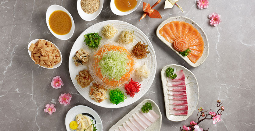 Sushi Tei Yusheng Group Shoot