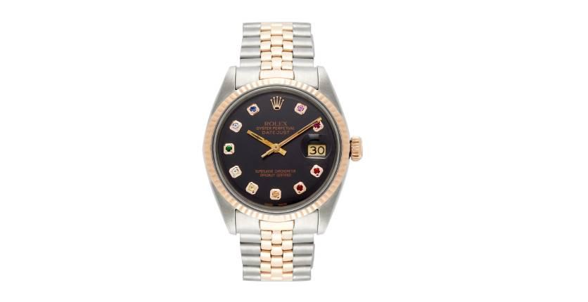 Vintage Rolex Oyster 18k rose-gold watch