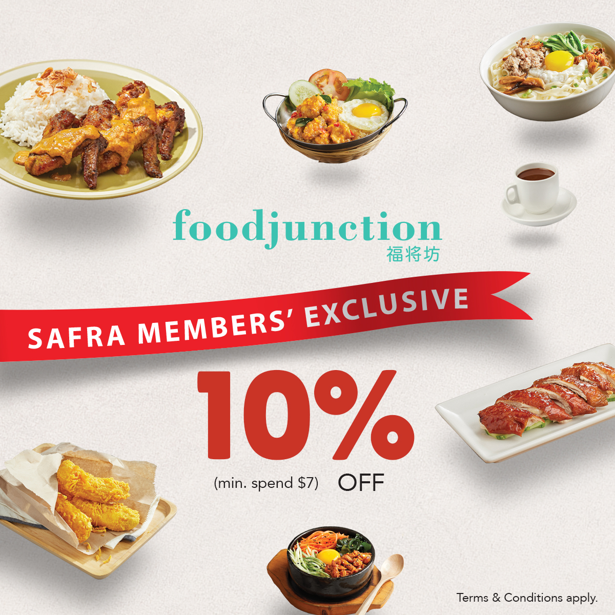 Food Junction - 10% Off Total Bill With $7 Min. Spend