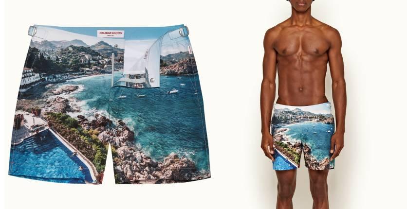 Orlebar Brown Sicilian Summer mid-length Bulldog swim shorts