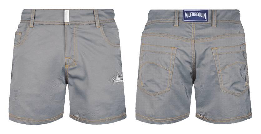 Vilebrequin Marlon flat belt swim shorts in light denim