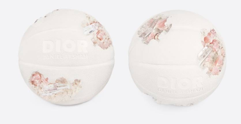 Dior and Daniel Arsham Future Relic Eroded Basketball