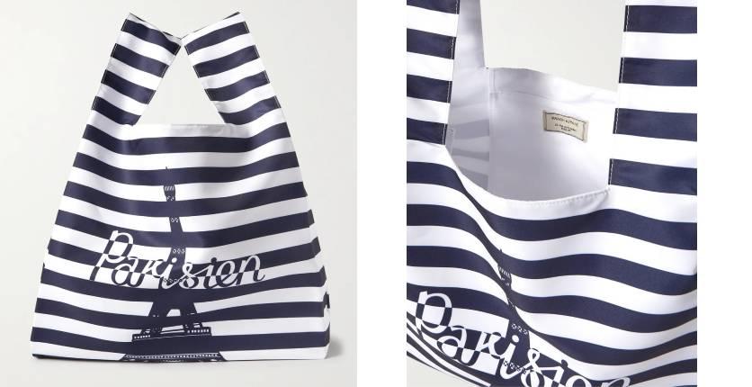 Maison Kitsuné printed nylon tote bag