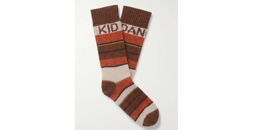 Celine Homme The Dancing Kid striped wool-jacquard socks