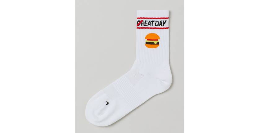 H&M Hamburger white sports socks