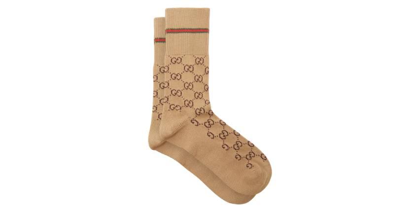 Gucci GG Supreme-intarsia cotton-blend socks