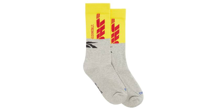 Vetements X Reebok DHL logo-jacquard cotton-blend socks