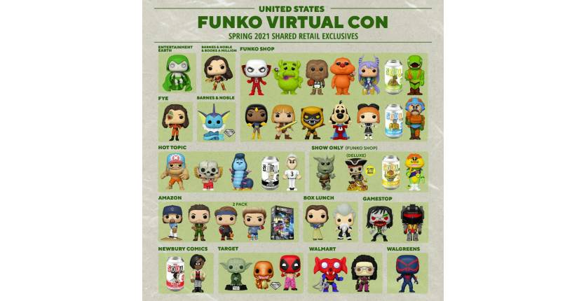 Funko 2021 Virtual Con Spring Convention Limited Edition Exclusive series