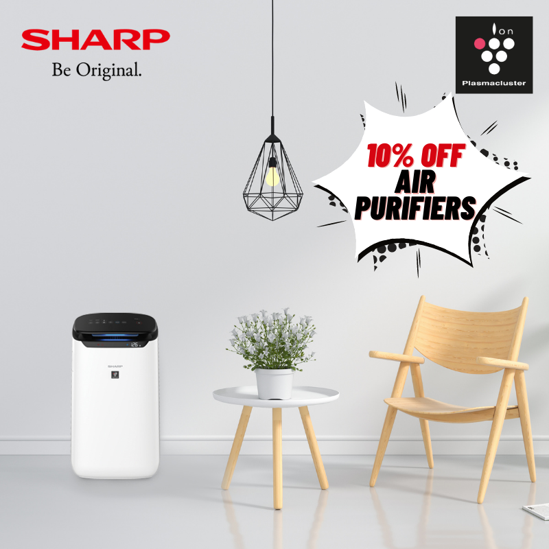 10% Off SHARP Air Purifiers at Audio House