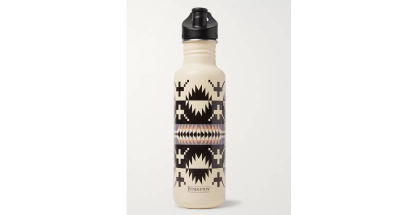 Pendleton x Klean Kanteen printed stainless steel water bottle in cream