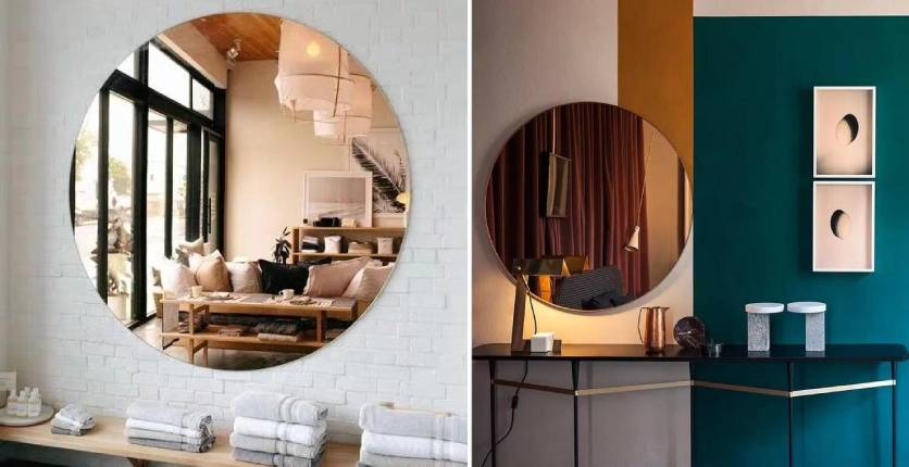 Urban Mood SALT Postmodern Tinted Round Mirror