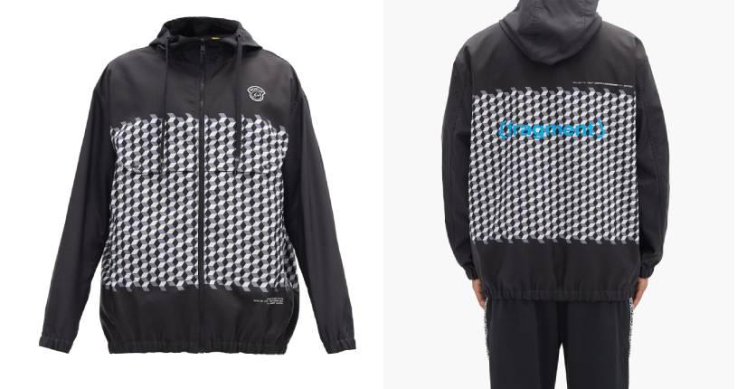 Moncler Genius – 7 Moncler Fragment Hiroshi Fujiwara Kaplan hooded tile-print windbreaker jacket