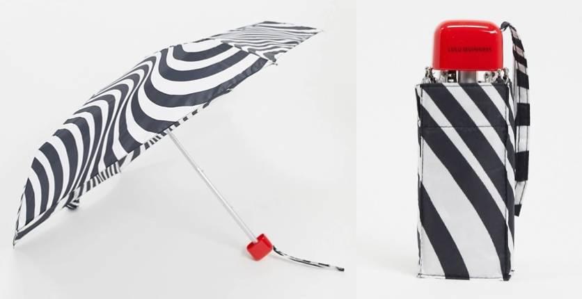 Lulu Guinness Tiny Optical Stripe Umbrella
