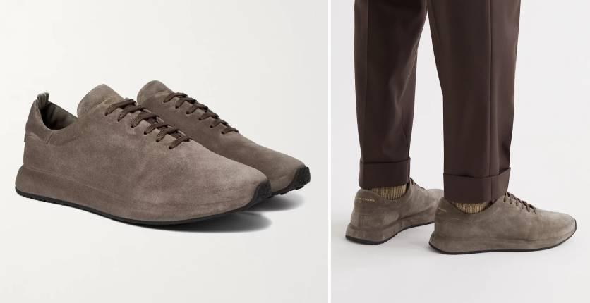 Officine Creative Race 17 Suede Low-Top Sneakers (in Quarzo)
