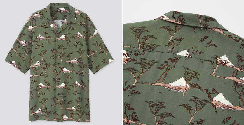 Uniqlo Utagawa Hiroshige open-collar short-sleeve shirt