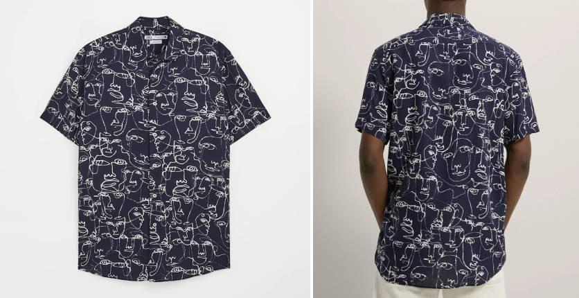 ZARA Face Print shirt