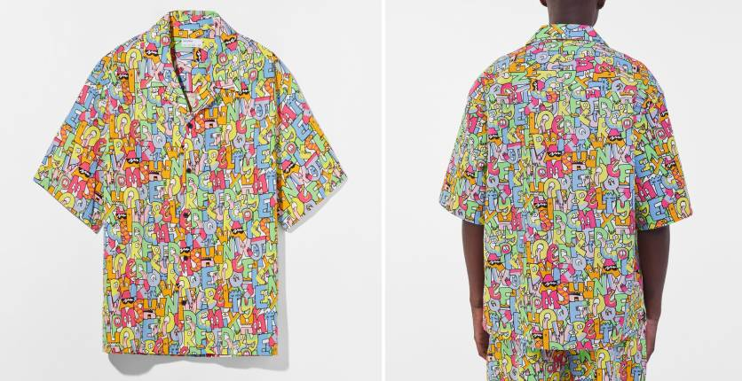 Bershka printed cotton shirt
