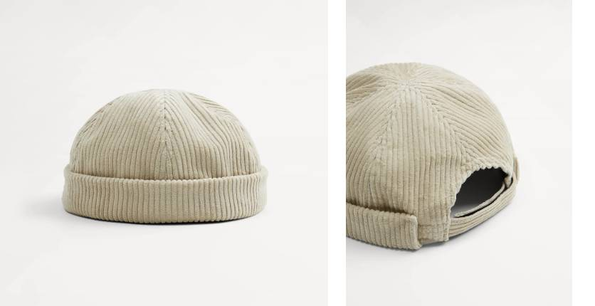 ZARA short corduroy hat