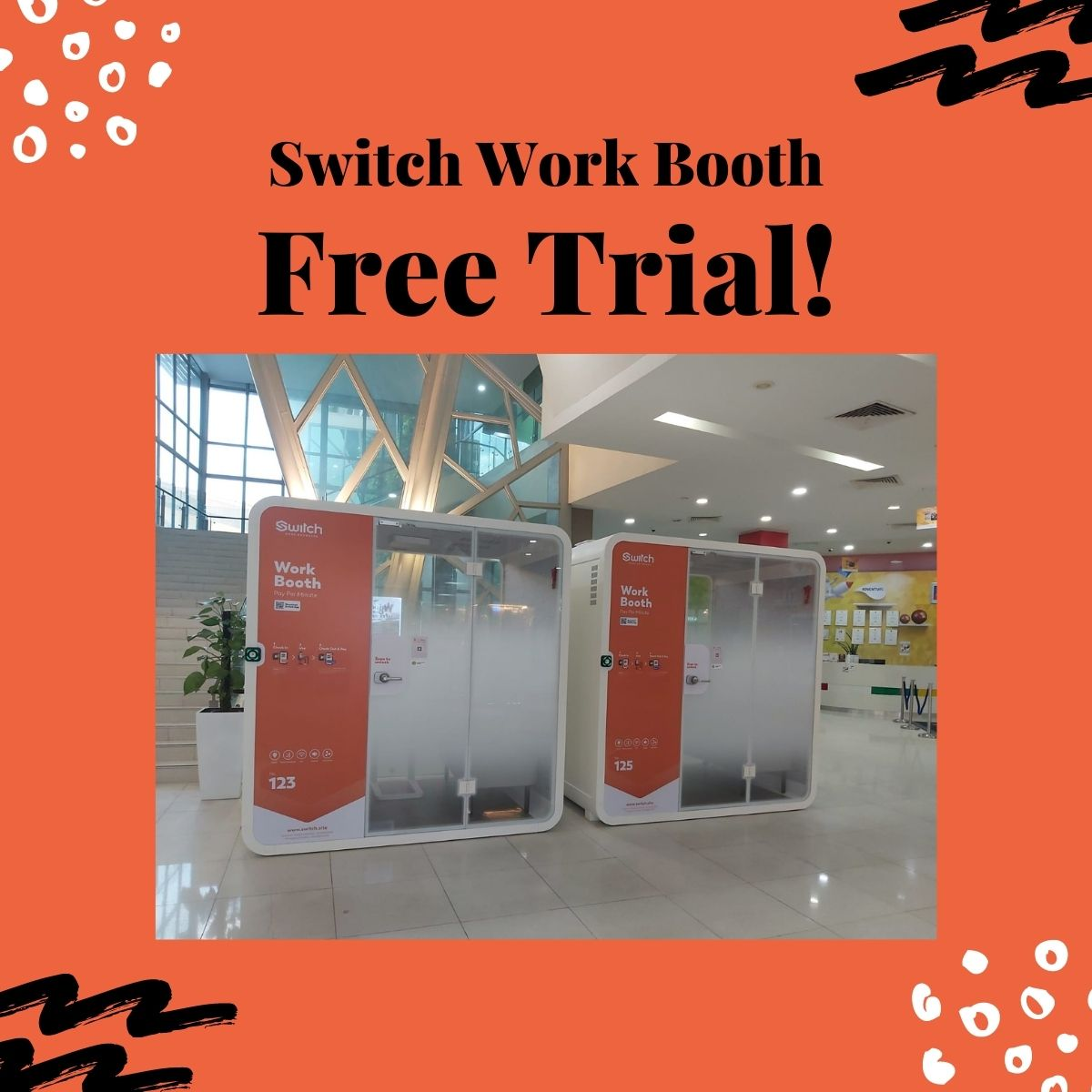 SAFRA Jurong - One-Time Free Entry To Switch Work Booth