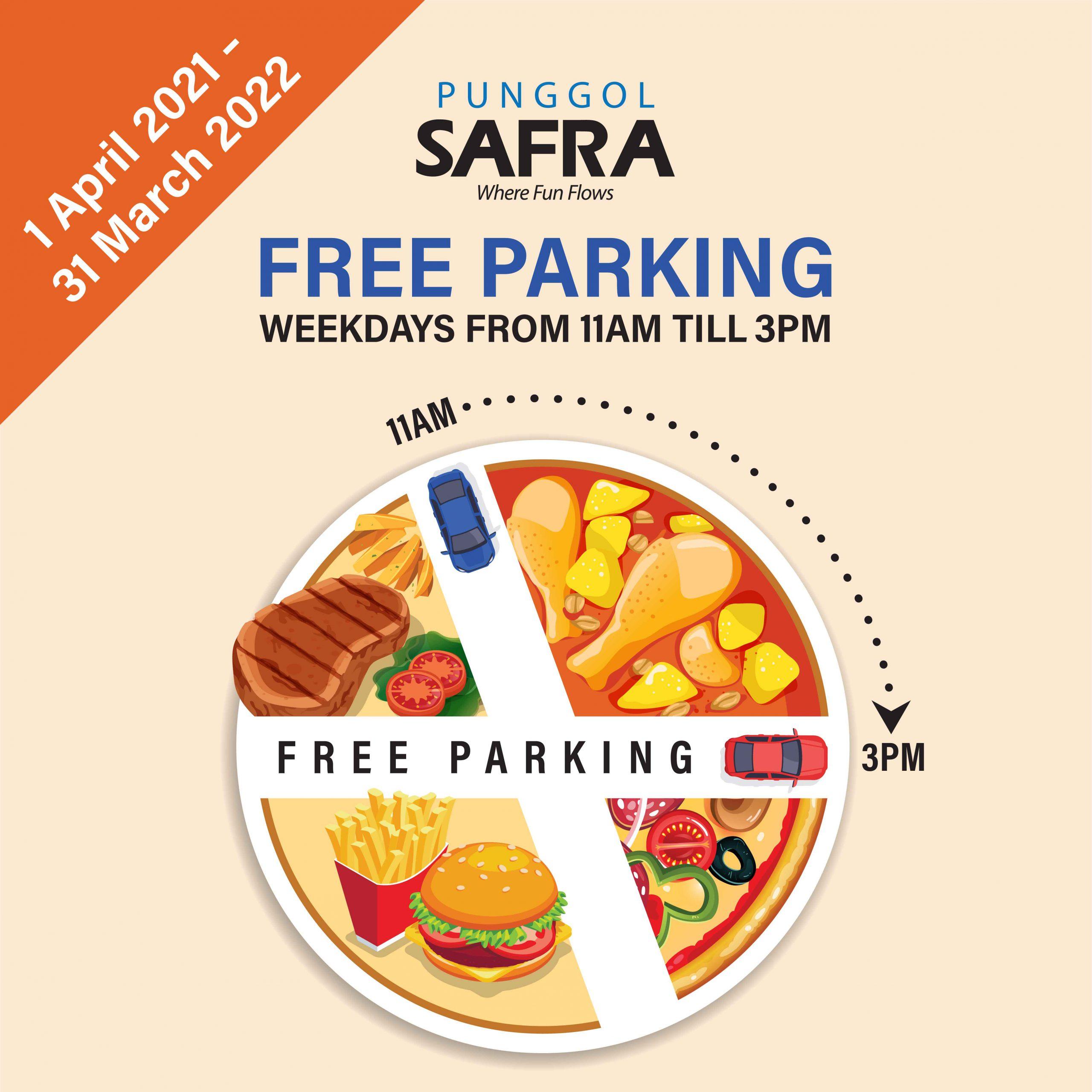 SAFRA Punggol - Free Weekday Parking