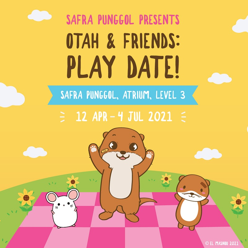 SAFRA Punggol Presents Otah & Friends: Play Date! - Complete The Activity Book To Receive An Otah & Friends Sticker