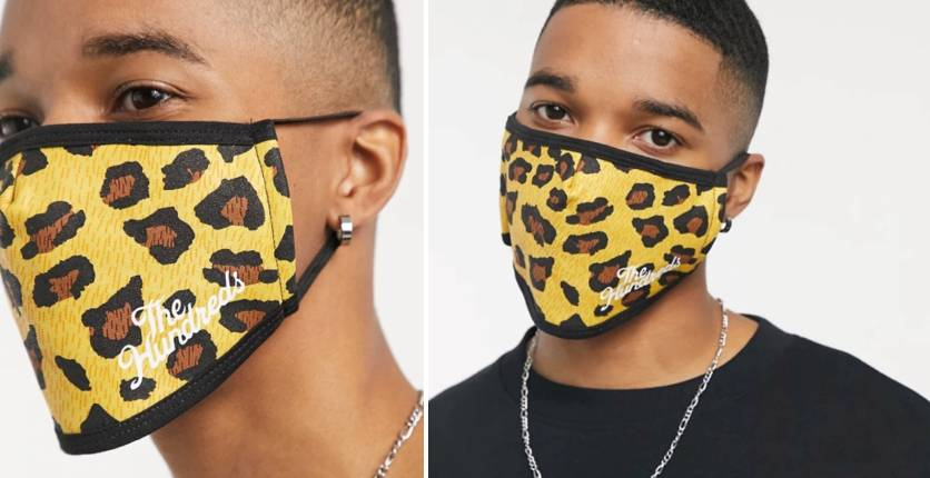 The Hundreds Leopard Face Covering In Brown