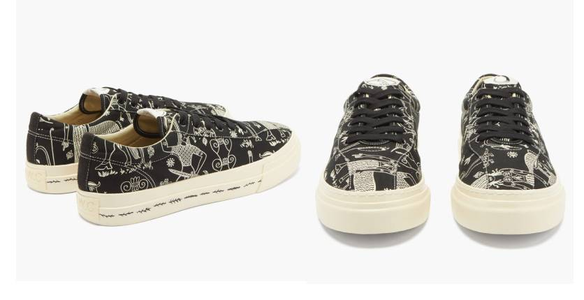 Stepney Workers Club X Endless Joy Dellow canvas trainers