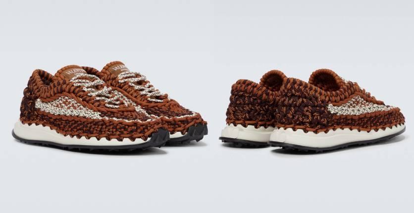 Valentino Garavani Macramé knitted sneakers