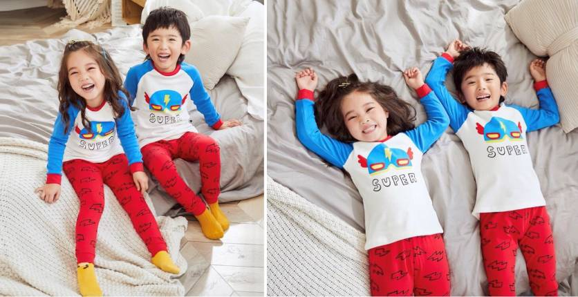 Pocketpig Diary Flash Pyjamas 2pcs Set