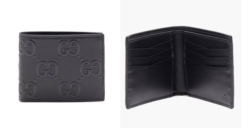 Gucci Logo-Embossed Leather Bifold Wallet