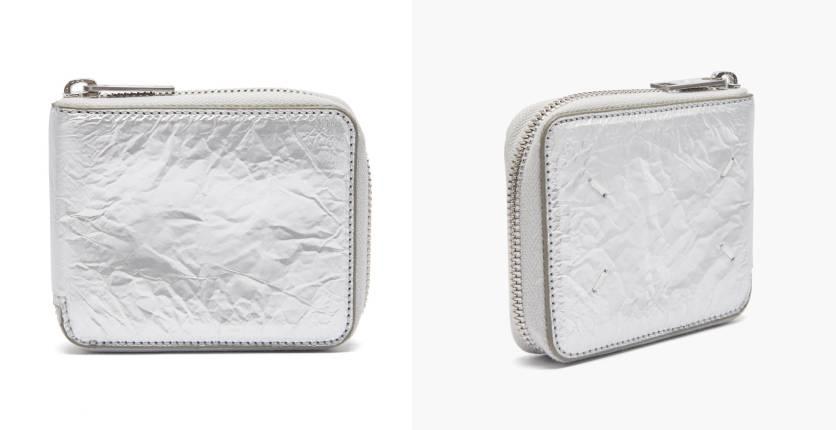 Maison Margiela Crinkled Zip-Around Wallet