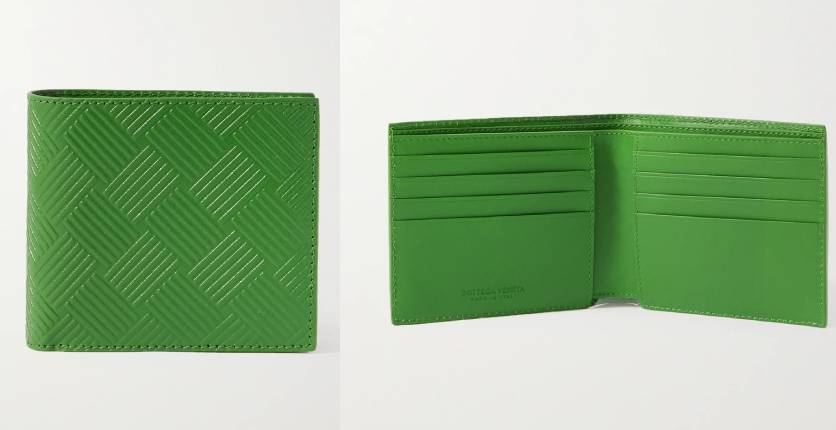 Bottega Veneta Intrecciato-Embossed Leather Billfold Wallet