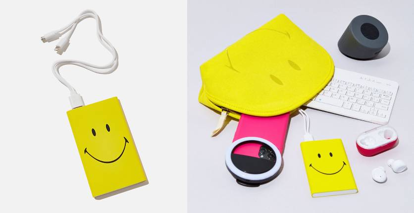 Typo Smiley-printed Charge It charger