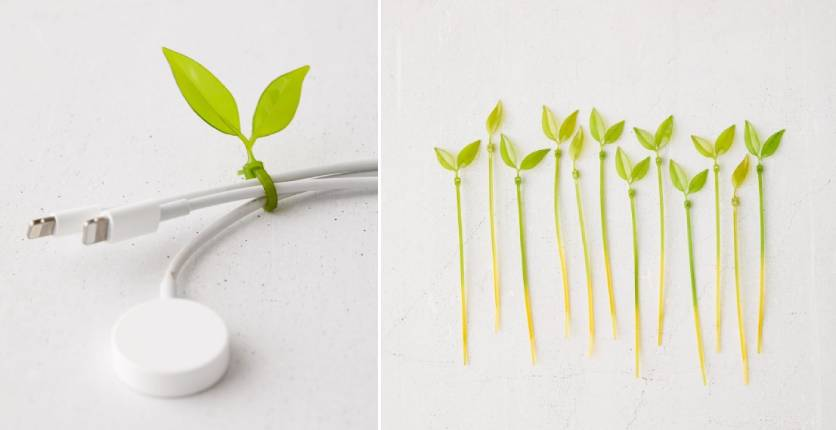 Urban Outfitters Leaf cable tie set