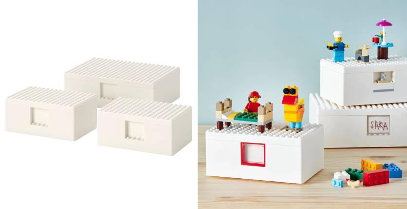 IKEA BYGGLEK LEGO box with lid