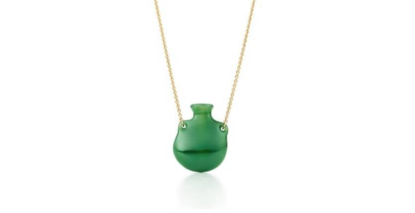 Tiffany & Co. Elsa Peretti Bottle Green Jade Pendant