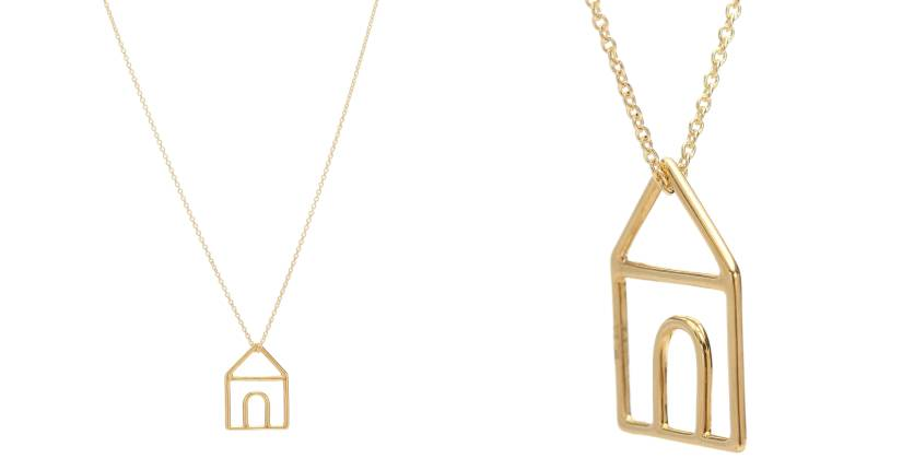 Aliita Casita Pura 9kt Gold Necklace