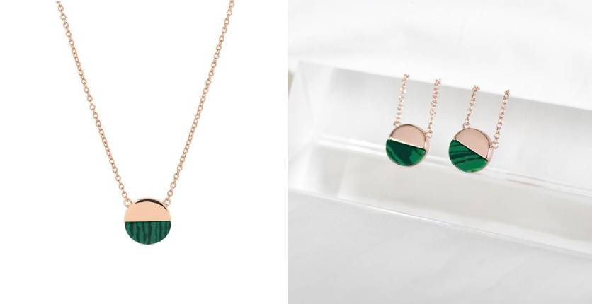 By Invite Only Rose Gold Malachite Necklace
