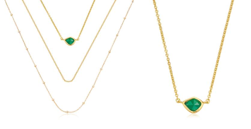 Monica Vinader Gold Vermeil Siren Mini Nugget, Fine Chain And Beaded Chain Necklace Set