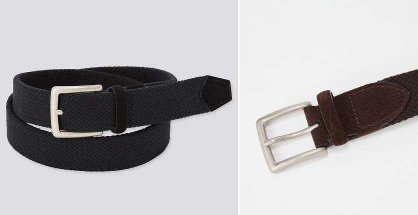 Uniqlo Suede combination stretch belt