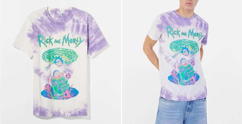 Bershka Tie-dye Rick & Morty T-shirt