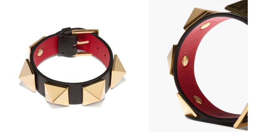 Valentino Garavani Roman Stud leather bracelet