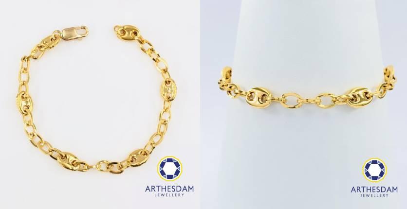 Arthesdam Jewellery 916 Gold Soda Tabs bracelet