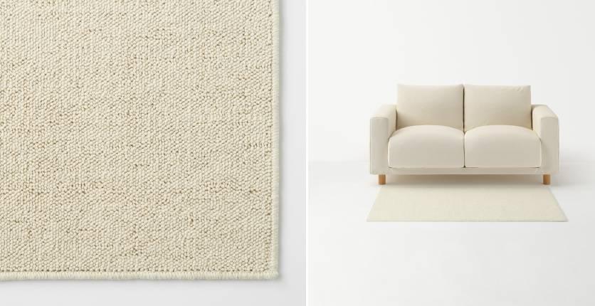 Muji polyester-loop pile rug in ivory